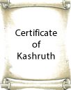 Certificate of Kashruth